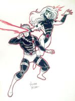Cyclops and Jean Grey NYCC Commission by LucianoVecchio
