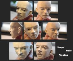 BJD: SleepyHeadSasha - Ready for Coating by FreakStyleBJD