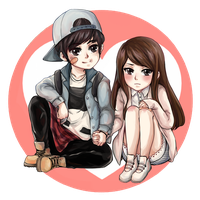 Commission - Minseok and Sohee by tears-fall-down