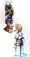 Roxas and sora - flip by baberscamille