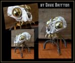 Steampunk Skull by Dave Britton by BrittonsConcoctions