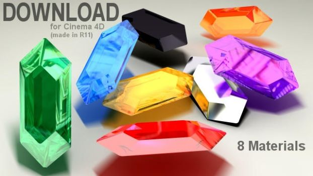C4D Rupee Material Pack by 100SeedlessPenguins
