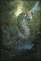 THE OUTCAST ODYSSEY CARD MASTER CHALLENGE  -Dragon by cyl1981