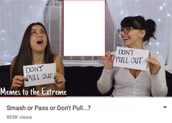 Smash or Pass or Don't Pull meme template by NitsuaTribalGod