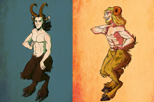 Satyr Gods by Cutiekitty01