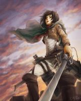 mikasa ackerman by chisien