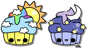 Cupcake Pair by Crystal-Moore