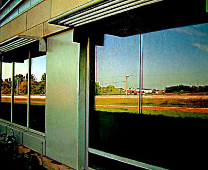 Reflections in glass by johnwickart