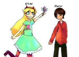 star vs the forces  of evil by ryouta-BADASS-kawara