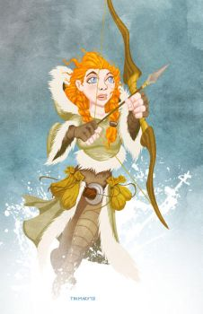 Ygritte (cartoon style) by tremary