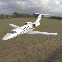 Cessna Citation CJ4 Over a Field by VanishingPointInc