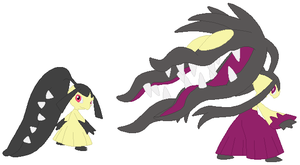 Mawile and Mega Mawile Base by SelenaEde