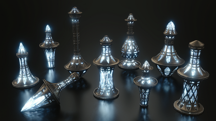 Ayleid Potions Set - TES by Etrelley