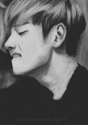 Kim Taehyung painting animation by getyourdragon