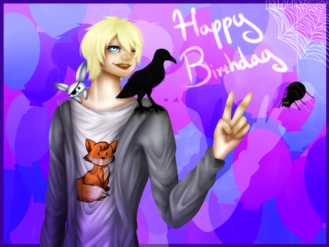 (Spedpaint) ~Birthday Boiii~ by Knife-Girl