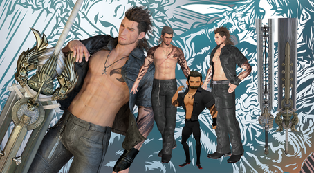 FFXV Gladiolus Amicitia - The Prince's Shield by shreis