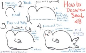 How to Draw a Cute Cartoony Seal by A-Random-Pause