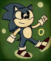 Classic Sonic by SweetStarryGalaxies