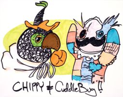 Chippy and CuddleBug - Frope by jesseaaah
