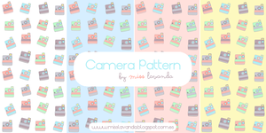 Camera Patterns for Photoshop and .png by MissLavanda