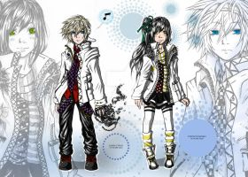 Character Designs James and Atsuko by ShiroiKrow