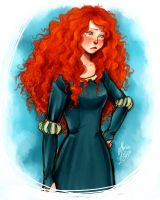 Pouty Merida by thecarefree