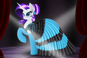 Rarity's New Dress by CiscoQL
