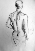 Study of a nude from behind by Stalky-Jack