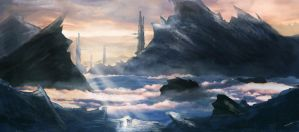 Concept Painting: the highlands by tschreurs