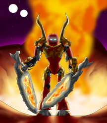 Tahu Arrives by Toa-Shifter
