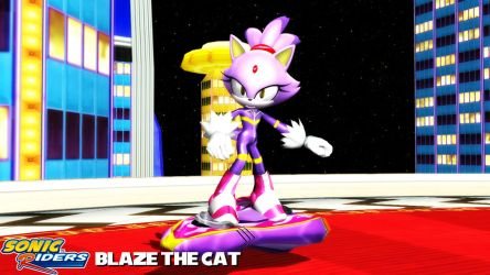 (MMD Model) Blaze the Cat (Sonic Riders) DL by SAB64