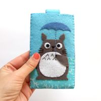 Totoro kawaii iphone case by yael360
