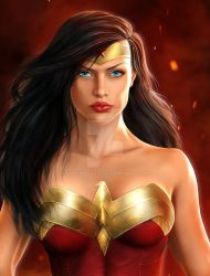 Diana of Themyscira (close up) by SimonPovey
