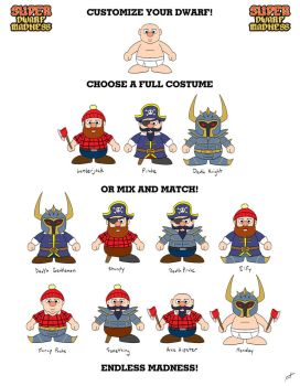 Customizable Dwarves by BluDrgn426