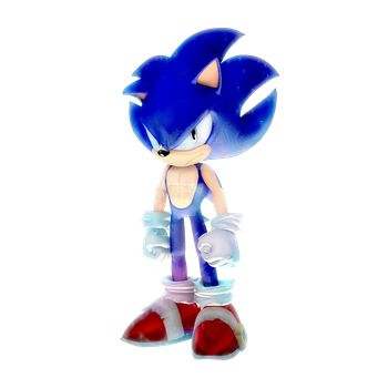 What if: Migatte no Sonic Render (auraless) by Nibroc-Rock