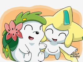 Shaymin and Jirachi