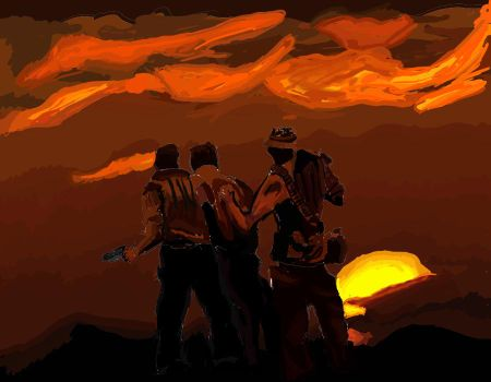 Patrol under the red sun by Redsniper5