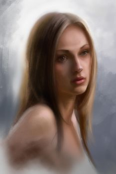 girl portrait (speedpaint) by Sergey1987