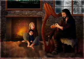Playing The Harp by SweetLittleVampire