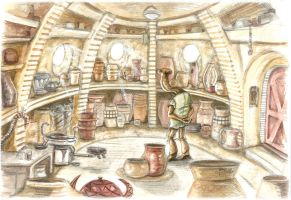 Ithorian Potter by StuCunningham