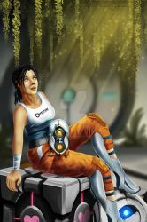 Chell by SmudgedPixelsArt