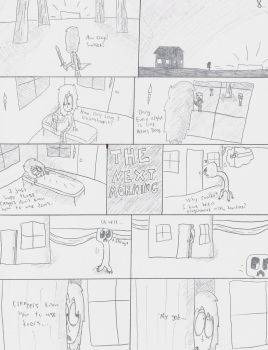 Until the End page 8 (UNCOLORED) by Qille