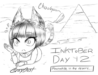 Day 12: a Sphinx Surprised by a Whale by GrayDustOA