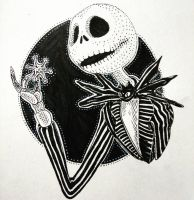 Inktober Day 29:  Jack Skellington by artifexToils