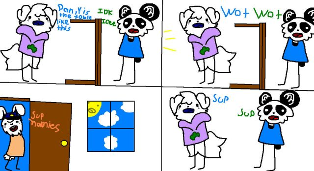 The Effortless table Part 1 (Comic 1) by Icee-Pup