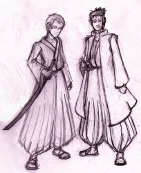 John and Rodney: bleach style by Neo-Kitty
