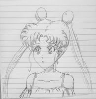 Fast sketch for usagi tsukino by Jia-Horizon-Artworks