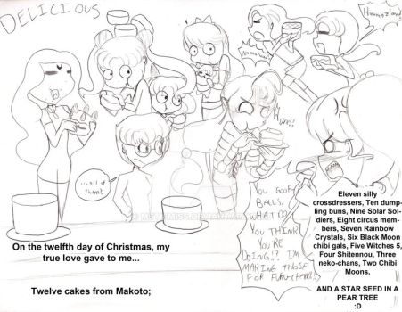 12 Days of a Sailor Moon Christmas| Day 12 by MSTieMiss