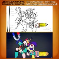 Mighty MagiSwords Storyboards - Barrage backfires by artbylukeski