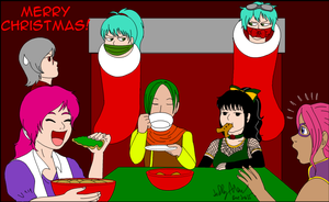 Finally a quiet Christmas TeaTime For HeaveEve1313 by SailorEnergy